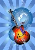 Avec ma guitare Image stock