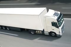 Avec semi le camion Photographie stock libre de droits