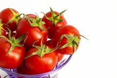 Avec son excellente saveur, les tomates minuscules sont le meilleur pour la santé Photo stock