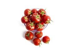 Avec son excellente saveur, les tomates minuscules sont le meilleur pour la santé Image stock
