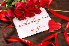 Avec tout mon amour à vous Photo stock