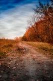 Avec toutes les couleurs d'automne image stock