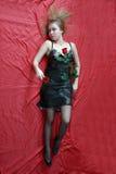 Avec une glace et une rose Photographie stock
