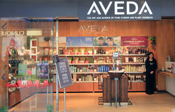 Aveda shop in Hong Kong Royalty Free Stock Image