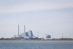 Avedoere在哥本哈根,丹麦南部的能源厂 库存照片