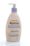Aveeno Moisturising beauty lotion. Aveeno moisturising beauty body lotion with colloidal oatmeal, lavendar, chamomile and ylang-ylang oils Royalty Free Stock Photos