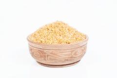 Aveia em flocos do trigo em um prato Foto de Stock