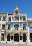 Aveiro. Beautiful buildings in Art Nouveau style in Aveiro (Portugal Royalty Free Stock Images