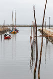 Aveiro boats Royalty Free Stock Images