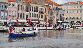 AVEIRO CANAL VIEW PORTUGAL Royalty Free Stock Images
