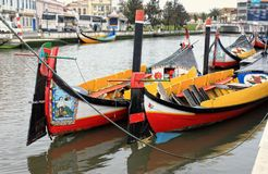 Aveiro fishing boats Stock Photos