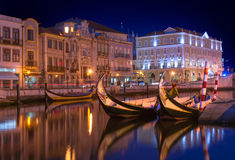 Aveiro by night Royalty Free Stock Images