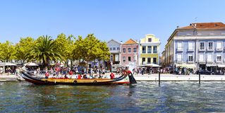 Aveiro / Portugal August 13, 2017: boat called royalty free stock photography