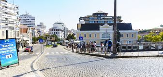 Aveiro / Portugal August 13, 2017: Street of royalty free stock photo