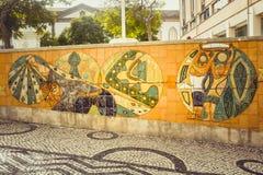 Aveiro, Portugal Brukował ulicę w dziejowym centre turystyczny miasteczko Aveiro Aveiro, Zdjęcie Stock