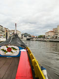 A boat in the canals of Aveiro, Portugal Stock Image