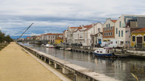 A view of the canals in Aveiro, Portugal Stock Image