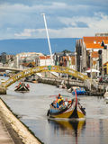 A view of the canals in Aveiro, Portugal Royalty Free Stock Photos
