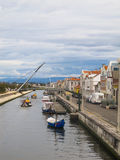 A view of the canals in Aveiro, Portugal Stock Photo