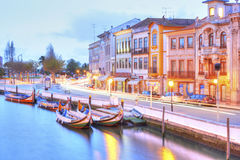 AVEIRO, PORTUGAL - MARCH 21, 2017: Aveiro at sunset Stock Images