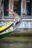 Aveiro, Portugal - 22 Mei, 2015: Traditionele boten in Aveiro Stock Fotografie