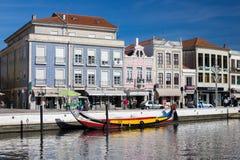 AVEIRO, PORTUGAL - 21 NOVEMBRE 2017 : bateau avec des touristes Image libre de droits