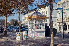 AVEIRO, PORTUGAL - 21 NOVEMBRE 2017 : kiosque avec le swe traditionnel Photo stock