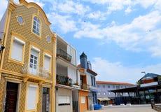 Aveiro, Portugal: stedelijke architectuur stock foto's