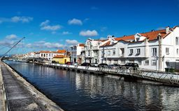 Aveiro - Portugal, swimming channel stock photography