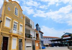 Aveiro, Portugal: urban architecture. Aveiro is known as `Portugal`s Venice stock photos