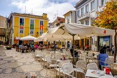 AVEIRO, PORTUGALIA restauracje i bary w Historycznym centrum Aveiro, Portugalia Zdjęcie Royalty Free