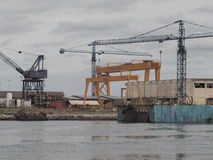 Aveiro shipyards Stock Photos