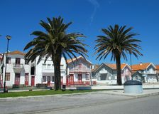 Aveiro stad, Portugal arkivfoto