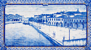 Aveiro station decor Royalty Free Stock Photos