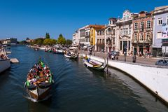Aveiro tourist attraction royalty free stock images