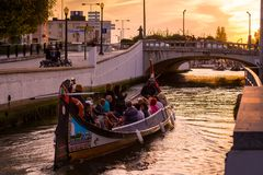 Aveiro-Touristenattraktion stockbilder