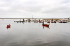 Aveiro traditional fishing boats Royalty Free Stock Photos