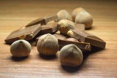 Avellana y chocolate 22 Fotografía de archivo libre de regalías