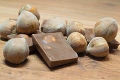 Avellana y chocolate 3 Imagen de archivo