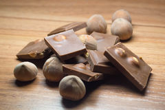 Avellana y chocolate 19 Fotos de archivo libres de regalías