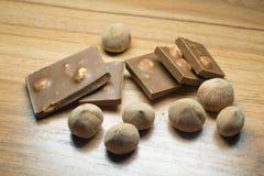 Avellana y chocolate 15 Imagen de archivo libre de regalías