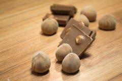 Avellana y chocolate 11 Fotografía de archivo libre de regalías