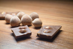Avellana y chocolate 18 Foto de archivo libre de regalías