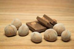 Avellana y chocolate 13 Foto de archivo libre de regalías