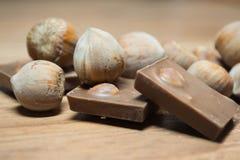 Avellana y chocolate 5 Fotos de archivo