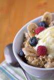 Avena & frutta del porridge Immagini Stock Libere da Diritti