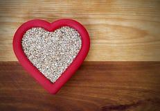 Avena sana del Acero-corte del corazón Fotos de archivo libres de regalías