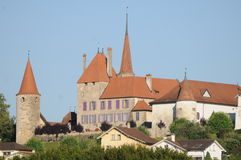 Avenches Castle Stock Image