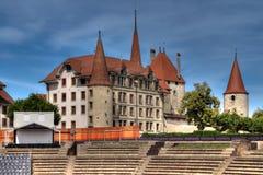 avenches górskiej chaty d hdr Switzerland Zdjęcia Royalty Free