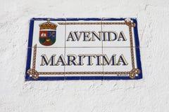 Avendia Maritima in Playa Blanca Lanzarote Stock Afbeeldingen